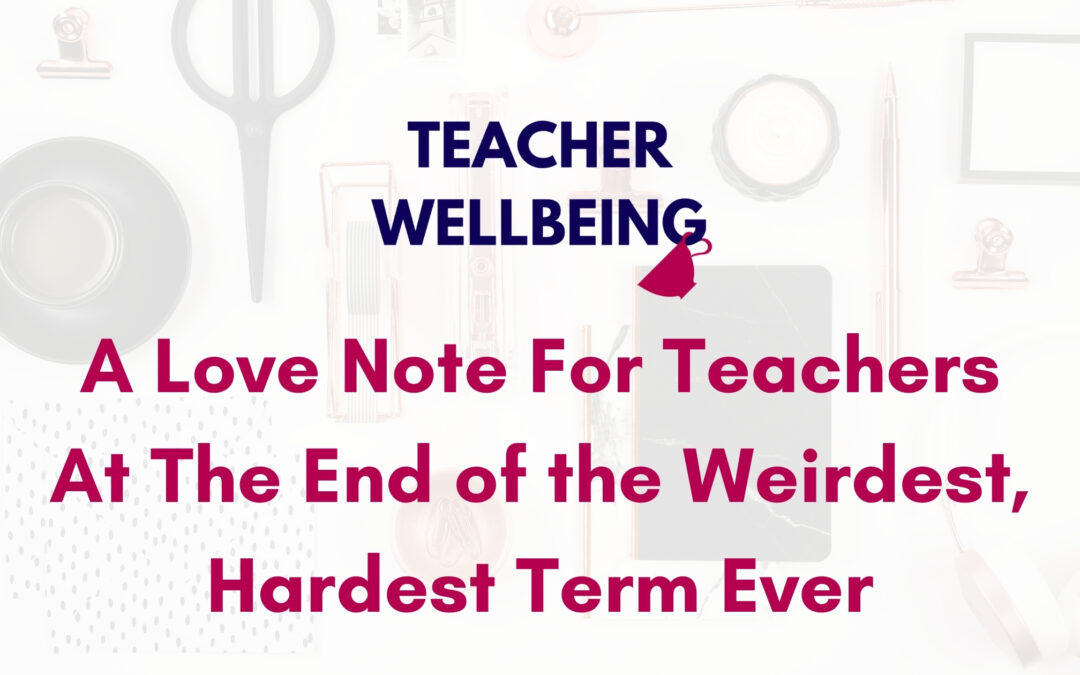 S06 E06: A love note for teachers at the end of the weirdest, hardest term ever